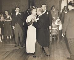 Wedding, Pasquale and Caterina (Robert Barone) Tags: 1950 1950s auntpat bronx caterinadisisto italianamerican matrimonio newyork newyorkcity pasqualedisisto saintclairsofassisi vintage blackandwhite fotodepoca grandparents italoamericani thebronx wedding