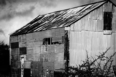..it may not look much but to him it was home and he loved it... (dawn.tranter) Tags: bygoneera vintage character rustic old country armidale helovedit monochrome shed home tinshed blackwhite 7dwf landscape