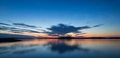 Blue Metallic (Per-Karlsson) Tags: dusk evening sunset sea seascape marstrandsfjorden marstrand sweden swedishwestcoast westsweden bohuslän bohuslan reflections reflection water waterscape scandinavia canoneos6d