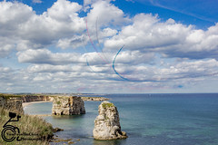 Red Arrows (View From The Chair Photography) Tags: landscape seascape rocks redarrows clouds