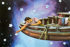 Star Ship (dadadreams (Michelle Lanter)) Tags: collage collageart starship stars starrynight nightsky starart