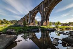 The Train Bridge (long exposure) (cpjRVA) Tags: landscape water river nature neutraldensity longexposure teamcanon canoneos6d virginia richmond va rva jamesriver jrps thetrainbridge