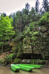 160524_152949_CB_0300 (aud.watson) Tags: europe czechrepublic bohemia decindistrict hrenska riverkamenice kamenicegorge edmundgorge gorge ravine river water rocks rockformation cliffs boat
