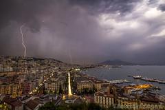 posillipo (linotopo) Tags: napoli golfo posillipo 13scese santonio sea mare fulmine tempesta citt nuvole colore sigma 1020