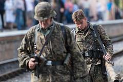 DSC_7427.jpg (john_spreadbury) Tags: ww2 mortar gi homeguard german blacknwhite johnspreadbury reenactment group rifle machinegun stengun cricklade swindon railway troops army english americans uniforms smoke wartime soldiers british