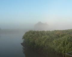misty (achatphoenix) Tags: early earlymorning fog foggy misty august water eau eastfrisia onthebridge aqua wasser ostfriesland brumedumatin