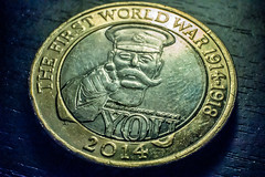 2 Coin (NadeemSultan) Tags: your country needs you first world war 2 coin  2 special remembrance commemorative