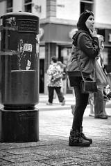 I'm sure there's a postbox around here. (Just Ard) Tags: woman postbox people person face street photography candid unposed black white mono monochrome bw blackandwhite noiretblanc biancoenero schwarzundweis zwartwit blancoynegro  justard nikon d750 85mm