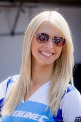BTCC Oulton Park 2016 - Silverline Subaru BMR Racing grid girl Luiza (Sacha Alleyne) Tags: britishtouringcarchampionship tintops toca barc dunlop circuit motorsport racing 2016 promo promotional umbrella grid pit girl babe model hostess blonde paddock pitlane subaru