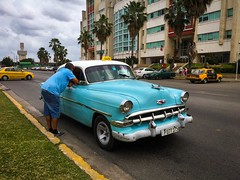 Havana. Cuba (H.L.Tam) Tags: cuban photodocumentary street streetphotography iphoneography harbana sketchbook taxi iphone6s cubasketchbook vintagecar documentary havana driver habanavieja cuba cubantaxi iphone