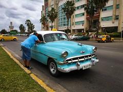 Havana. Cuba (H.L.Tam) Tags: cuban photodocumentary street streetphotography iphoneography harbana sketchbook taxi iphone6s cubasketchbook vintagecar documentary havana driver habanavieja cuba cubantaxi iphone