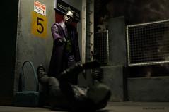 DSC03826-1.jpg (maxtrese) Tags: mafex joker heathledger diorama toyphotography rooftop robber gunpoint batman