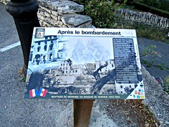 (AmyEAnderson) Tags: outdoor sign historic history bombardment bombing narrative gordes france europe provence vaucluse 1944 wwii worldwartwo