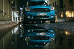 mini (explored) (jpw81) Tags: mini cooper car reflection night puddle fotocompetitionbronze fotocompetition