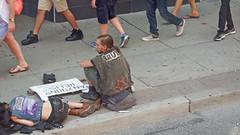 The Forgotten (soniaadammurray - OFF) Tags: digitalphotography homeless people forgotten inequality workingtowardsabetterworld sidewalk pavement sleep hope sign help toronto canada