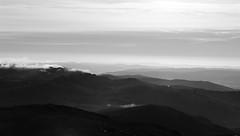 Silence is Monochrome? (notsophotogenic1) Tags: altitude bw silence golden morning dawn glens valleys mountains schiehallion mist monochrome lumix lx100 scotland landscape