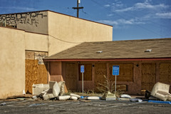 GOBSDEMOK (akahawkeyefan) Tags: motel defunct closed trash furniture handicapped davemeyer moteldrive