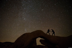 Fight (Julee Ung Photography) Tags: joshuatree nightshot california nationalpark stargazing stars archrock