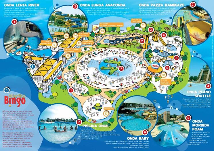 Mappa Atlantica Park cesenatico