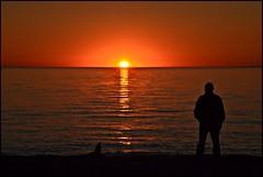 Fire Ball (framed) (fewstingscorpio) Tags: pink camping sunset sea orange sun beach water evening washington whidbeyisland sunrays reflexions 92 cubism straitofjuandefuca silhouhette deceptionpassstatepark flickrdiamond