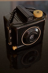 Heckuva Job, Brownie (MPnormaleye) Tags: detail macro beautiful photography design 1930s cool mechanical antique decorative retro moderne nostalgia cameras elegant deco artifact tabletop streamline arcane