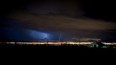 Tonight over North East Vegas (Bright Lights, Vegas Nights) Tags: storm night lasvegas lightning summerlin nikkor50mmf18d nikond600