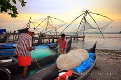 Life at Fortkochi (AgniMax) Tags: life sea wallpaper fishing colorful fishermen agni fortkochi sunsetboats agnimax