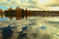 Claude Monet - Camera Impressionism (Lappeenranta) (alch3my) Tags: autumn cloud lake reflection canon finland eos cloudy contemporary environmental 5d catchy autumnal alch3my