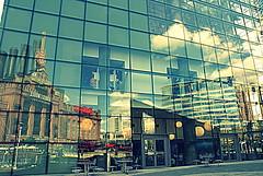 reflection at Baltimore pier (Maria Chanourdie) Tags: trip viaje windows sky usa reflection glass puerto mirror pier muelle baltimore ventanas cielo espejo reflejo vacations vacaciones seaport vidrio reflejos