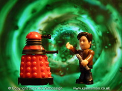 The Doctor & A Dalek Entering A Time Vortex