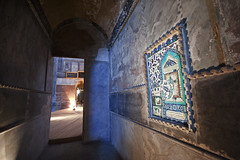 The Tile Panel, Aya Sofya (tigric (Ana Stefanovi)) Tags: blue gabriel church architecture turkey worship religion istanbul tiles logos hagiasophia byzantine umrah makkah hajj constantinople ayasofya ottomanart aghiasophia  sanctasophia tawaf comparativereligion     alhajarulaswad churchoftheholywisdomofgod sanctasapientia photographyforrecreation alkabah  jibral