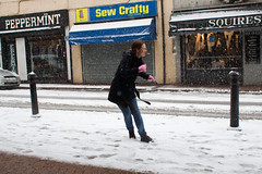 Snowballing (Che-burashka) Tags: street uk winter england people snow weather kent candid smoking dartford fromarchives canonef28mmf18usm