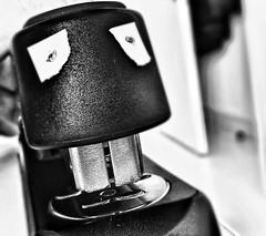 Bureau-monster (Studio Skwit) Tags: blackandwhite white black art monster vintage wow studio crazy google cool zwartwit bureau horror effect dents facebook iphone gentenaar iphoneography startcafe snapseed skwit stevensquid