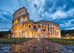 The Colosseum || Whispers From The Past (blame_the_monkey) Tags: italy rome ancient italia roman colosseum arena bluehour colosseo digitalblending