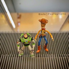 In the shoppingcentre (Chriz Photography) Tags: toy toys toystory woody disney pixar toyphotography revoltech