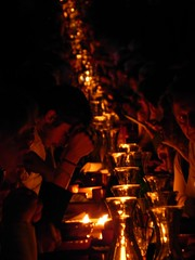 contemplazione (wollas) Tags: light shadow night candle trento cena trentino feste benedettina vigiliane