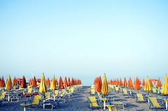 summers (SS) Tags: camera blue light red sea summer vacation sky italy orange white hot beach water colors june yellow composition contrast umbrella photography sand mare mood dof view angle pentax pov walk perspective scenic clear parasol cielo panoramica vista framing tones lungomare bianco puglia vieste foreshore vastness k5 celeste gargano costaadriatica