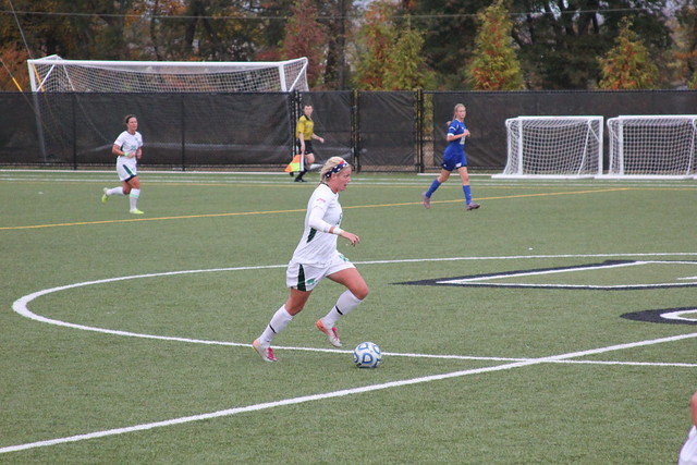 Sophomore Morgan Fraczkowski scored the game's first goal in the sixth minute against Felician in the CACC Quarterfinals