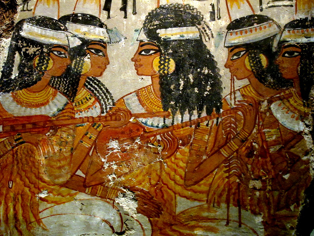The world 39 s best photos of ancient and nebamun flickr for Ancient egyptian tomb decoration