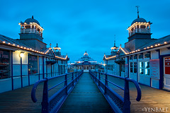 Eastbourne - Twilight | Blue Hour at Eastbourne Pier (Yen Baet) Tags: city uk greatbritain trip travel sunset sea vacation england reflection beach water architecture photography coast pier photo twilight europe european waterfront unitedkingdom britain dusk postcard scenic eu esplanade eastbourne coastline british bluehour seafront southcoast picturesque eastsussex eastbournepier britons pleasurepier yenbaet