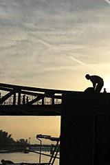 The ol man river told me stories... (S. Ruehlow) Tags: bridge river frankfurt main brcke altstadt eisernersteg olmanriver mainkai architektpeterschmick erbaut186869