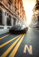 Aventador [FlickR Explore] (A-lain W-allior A-rtworks) Tags: sunset paris france nikon royal sigma alain 1020 lamborghini artworks monceau d300s wallior