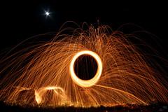 L'orologio degli Dei (Ylis7) Tags: light moon lightpainting abstract canon luna product astratto notte luce fuoco lampada forme cerchio cerchi magia esperimenti scia torcia scie spirali strobist dipingereconlaluce spiralidiluce spirografia