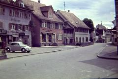 Germany 1950 (Ken-Zan) Tags: city houses vw germany slide scanned 1950 kenzan vintagecolor anscochrome ljunghav