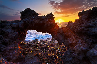 Lava Arch and Sun Rays