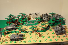 Battle of Kursk (stej123) Tags: tank lego german ww2 russian panzer moc t34 kursk