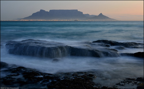 The evening falls at Table Mountain