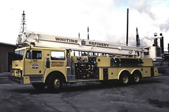 Whiting Refinery FD (columind99) Tags: fire snorkel indiana bp refinery department whiting brigade amoco