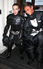 Liam Payne of One Direction dressed as Batman and Tom Daley in a fat skeleton