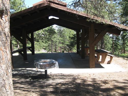 Photo - Inside the Wood Shelter